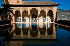 Το παλάτι του Partal alhambra Γρανάδα Στοκ εικόνες με δικαίωμα ελεύθερης χρήσης