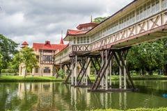 Το παλάτι Chandra Sanam βρίσκεται σε Nakorn Pathomthailand Στοκ Εικόνες