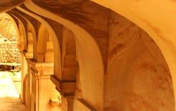 Το παλαιό εσωτερικό παλατιών maratha thanjavur Στοκ Εικόνες