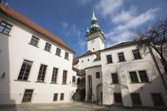 Το παλαιό κτήριο Δημαρχείων στο Μπρνο, Δημοκρατία της Τσεχίας, Ευρώπη - FEB στοκ φωτογραφίες
