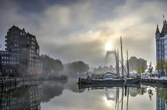 Το παλαιό λιμάνι μια misty ημέρα στοκ φωτογραφίες