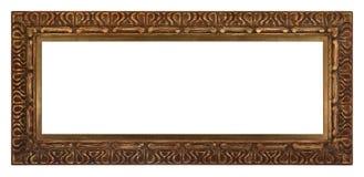 Το παλαιό ξύλινο πλαίσιο με μεταλλικό ψάχνει τις φωτογραφίες και την τέχνη στοκ εικόνα με δικαίωμα ελεύθερης χρήσης