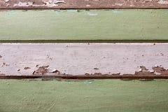 Το παλαιό ξύλο χρωμάτισε άσπρος και πράσινος Στοκ Εικόνες