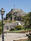 Το παλαιό φρούριο στην πόλη της Κέρκυρας στο ελληνικό νησί της Κέρκυρας Στοκ εικόνες με δικαίωμα ελεύθερης χρήσης