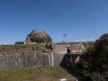 Το παλαιό φρούριο στην πόλη της Κέρκυρας στο ελληνικό νησί της Κέρκυρας Στοκ Εικόνες