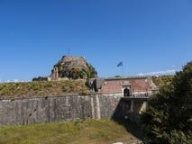 Το παλαιό φρούριο στην πόλη της Κέρκυρας στο ελληνικό νησί της Κέρκυρας Στοκ φωτογραφίες με δικαίωμα ελεύθερης χρήσης