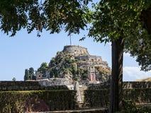 Το παλαιό φρούριο στην πόλη της Κέρκυρας στο νησί της Κέρκυρας Στοκ Εικόνα