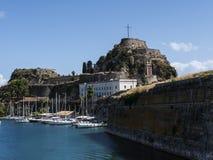 Το παλαιό φρούριο στην πόλη της Κέρκυρας στο νησί της Κέρκυρας Στοκ εικόνες με δικαίωμα ελεύθερης χρήσης