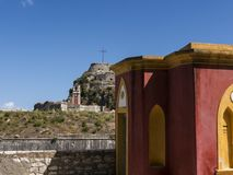 Το παλαιό φρούριο στην πόλη της Κέρκυρας στο νησί της Κέρκυρας Στοκ φωτογραφία με δικαίωμα ελεύθερης χρήσης