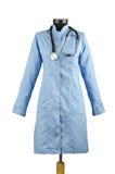 το παλτό απομόνωσε το ιατρικό στηθοσκόπιο Στοκ φωτογραφίες με δικαίωμα ελεύθερης χρήσης