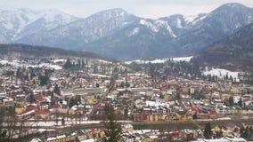 Το πανόραμα κακού Ischl από Sirius Kogel τοποθετεί, Salzkammergut, Αυστρία φιλμ μικρού μήκους