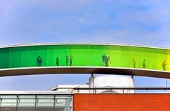 ` Το πανόραμα ` ουράνιων τόξων σας στη στέγη του Μουσείου Τέχνης ARoS Ώρχους Στοκ εικόνα με δικαίωμα ελεύθερης χρήσης