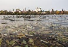 Το πανόραμα του Izmailovo Κρεμλίνο ενάντια στο σκηνικό της λίμνης Στοκ φωτογραφία με δικαίωμα ελεύθερης χρήσης