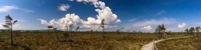Το πανόραμα Schwarzes δένει, Rhoen Στοκ εικόνες με δικαίωμα ελεύθερης χρήσης