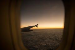 Το παράθυρο αεροπλάνων Στοκ φωτογραφία με δικαίωμα ελεύθερης χρήσης