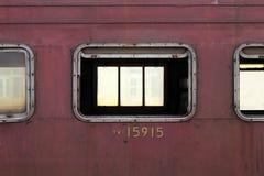 Το παράθυρο ενός τραίνου και στοκ εικόνες