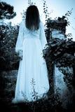 Το παράξενο μυστήριο κορίτσι Στοκ Φωτογραφία
