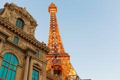 Το Παρίσι Λας Βέγκας είναι ένα θέρετρο και μια χαρτοπαικτική λέσχη πολυτέλειας στο Las Vegas Strip Στοκ Φωτογραφία