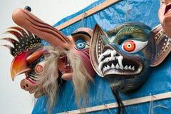 Το παραδοσιακό φεστιβάλ καλύπτει την ένωση σε έναν τοίχο από το θρησκευτικό φεστιβάλ Paucartambo Virgen del Carmen στοκ φωτογραφία με δικαίωμα ελεύθερης χρήσης