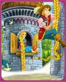 Το παραμύθι - όμορφο ύφος Manga - απεικόνιση για τα παιδιά Στοκ φωτογραφίες με δικαίωμα ελεύθερης χρήσης
