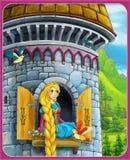 Το παραμύθι - όμορφο ύφος Manga - απεικόνιση για τα παιδιά Στοκ φωτογραφία με δικαίωμα ελεύθερης χρήσης