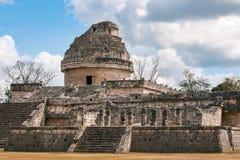Το παρατηρητήριο σε Chichen Itza, Μεξικό Στοκ Εικόνες