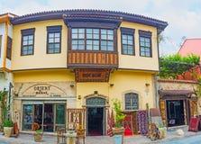 Το παραδοσιακό κατάστημα ταπήτων σε Antalya Στοκ Φωτογραφίες