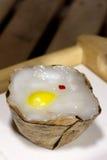 Το παραδοσιακό καλάθι διαμόρφωσε την κινεζική πουτίγκα Στοκ Εικόνα