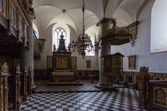 Το παρεκκλησι στο παλάτι Kronborg, Helsingor, Δανία στοκ εικόνες
