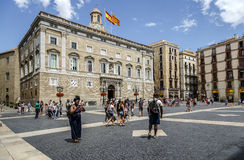 Το Παλάου de Λα Generalitat Βαρκελώνη Στοκ εικόνες με δικαίωμα ελεύθερης χρήσης