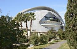 Το Παλάου de les Arts στη Βαλένθια Ισπανία Στοκ φωτογραφία με δικαίωμα ελεύθερης χρήσης