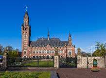 Το παλάτι ειρήνης - Διεθνές Δικαστήριο στη Χάγη Ν Στοκ φωτογραφία με δικαίωμα ελεύθερης χρήσης