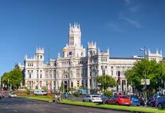 Το παλάτι παλατιών Cybele της επικοινωνίας στη Μαδρίτη, Ισπανία Στοκ Φωτογραφίες