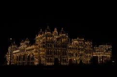 Το παλάτι τη νύχτα στοκ φωτογραφία με δικαίωμα ελεύθερης χρήσης