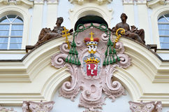 Το παλάτι του Αρχιεπισκόπου στην πόλη της Πράγας Στοκ φωτογραφίες με δικαίωμα ελεύθερης χρήσης