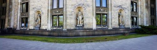 Το παλάτι του πολιτισμού και της επιστήμης στοκ εικόνα με δικαίωμα ελεύθερης χρήσης