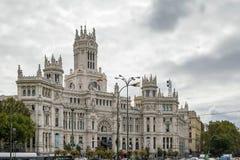 Το παλάτι Cybele, Μαδρίτη, Ισπανία Στοκ Εικόνα