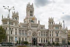 Το παλάτι Cybele, Μαδρίτη, Ισπανία Στοκ φωτογραφία με δικαίωμα ελεύθερης χρήσης