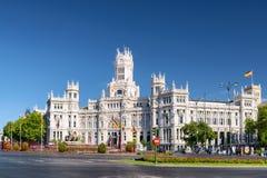 Το παλάτι Cybele (παλάτι της επικοινωνίας), Μαδρίτη, Ισπανία Στοκ Εικόνες