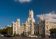 Το παλάτι Cybele (παλάτι της επικοινωνίας) στη Μαδρίτη, Ισπανία Στοκ εικόνες με δικαίωμα ελεύθερης χρήσης