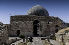 Το παλάτι Umayyad στο Αμμάν, Ιορδανία στοκ εικόνα