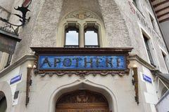 Το παλαιότερο φαρμακείο σε Λουκέρνη, Ελβετία Στοκ Φωτογραφίες
