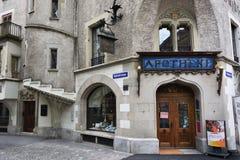 Το παλαιότερο φαρμακείο σε Λουκέρνη, Ελβετία Στοκ Φωτογραφία