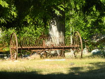 Το παλαιό αγρόκτημα εφαρμόζει Στοκ Φωτογραφία