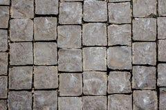 Το παλαιό γκρίζο πεζοδρόμιο ο δρόμος ως υπόβαθρο Στοκ εικόνες με δικαίωμα ελεύθερης χρήσης