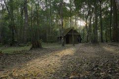 Το παλαιό εξοχικό σπίτι στο δάσος μυστηρίου Στοκ φωτογραφία με δικαίωμα ελεύθερης χρήσης