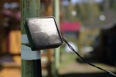 Το παλαιό ηλιακό πλαίσιο για το φωτισμό στον πόλο Στοκ φωτογραφία με δικαίωμα ελεύθερης χρήσης