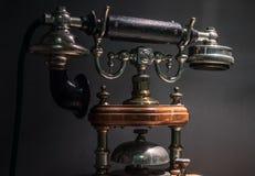 Το παλαιό και εκλεκτής ποιότητας τηλέφωνο, κλείνει επάνω Στοκ Εικόνες