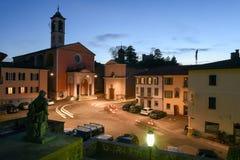 Το παλαιό κεντρικό τετράγωνο Stabio στην Ελβετία στοκ φωτογραφία
