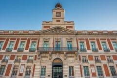 Το παλαιό κτήριο ταχυδρομείου, Puerta del Sol, Μαδρίτη, Ισπανία Στοκ εικόνα με δικαίωμα ελεύθερης χρήσης